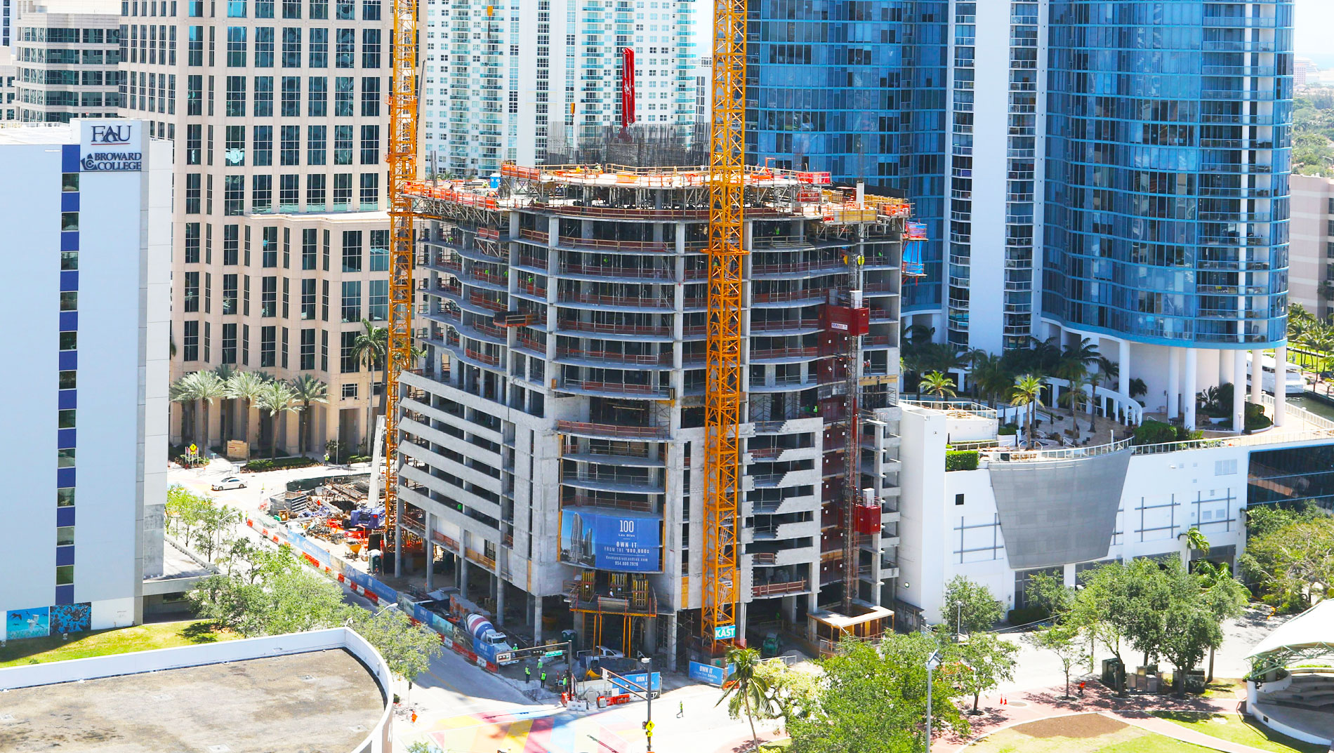 April 2018 Construction Update 100 Las Olas, Fort Lauderdale