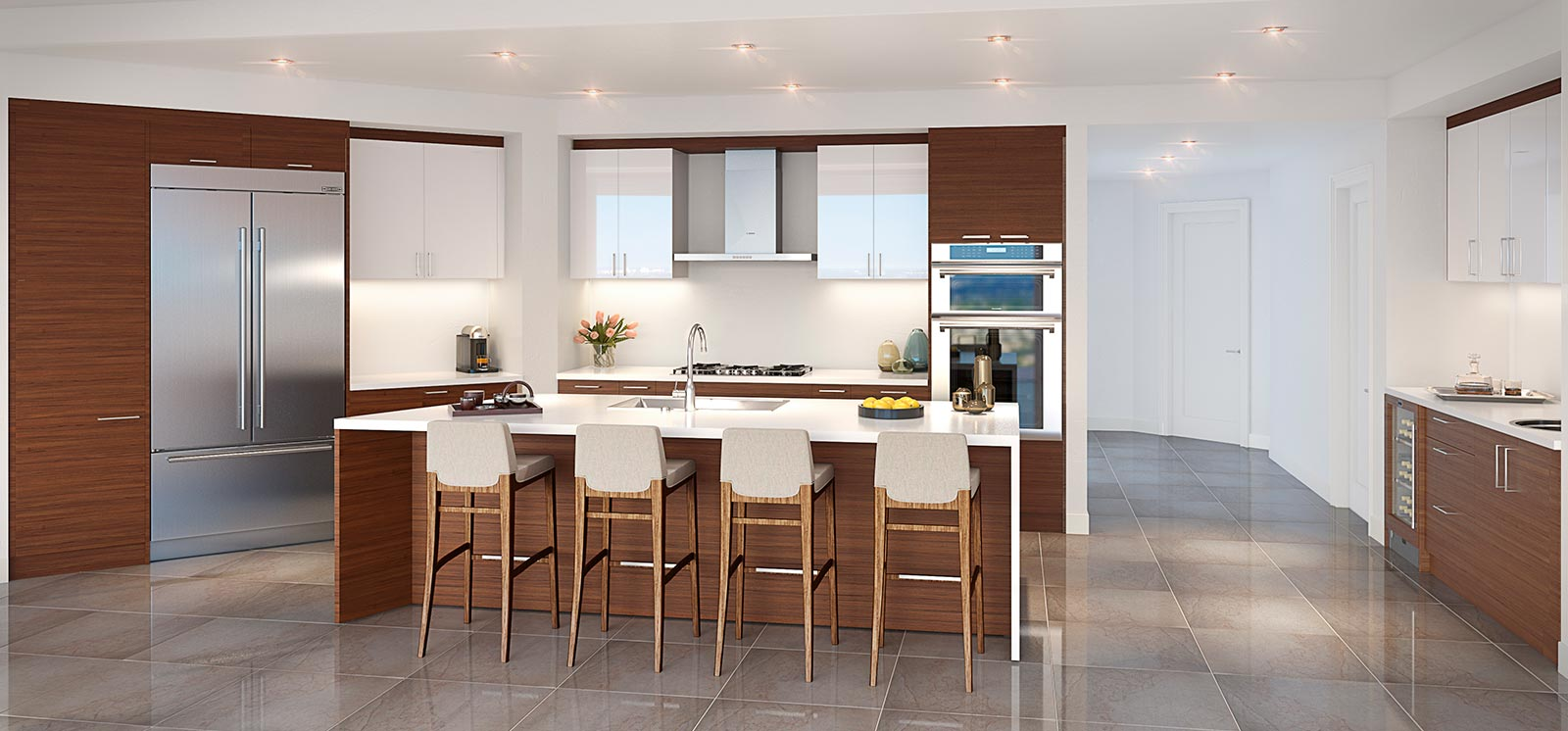 100 Las Olas Kitchen Rendering Metro