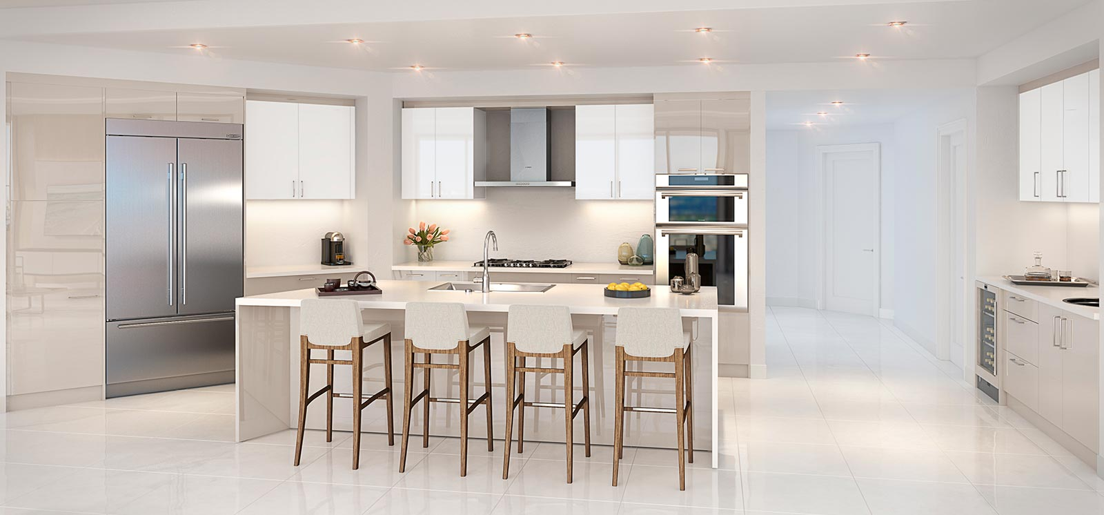 100 Las Olas Kitchen Rendering Allure