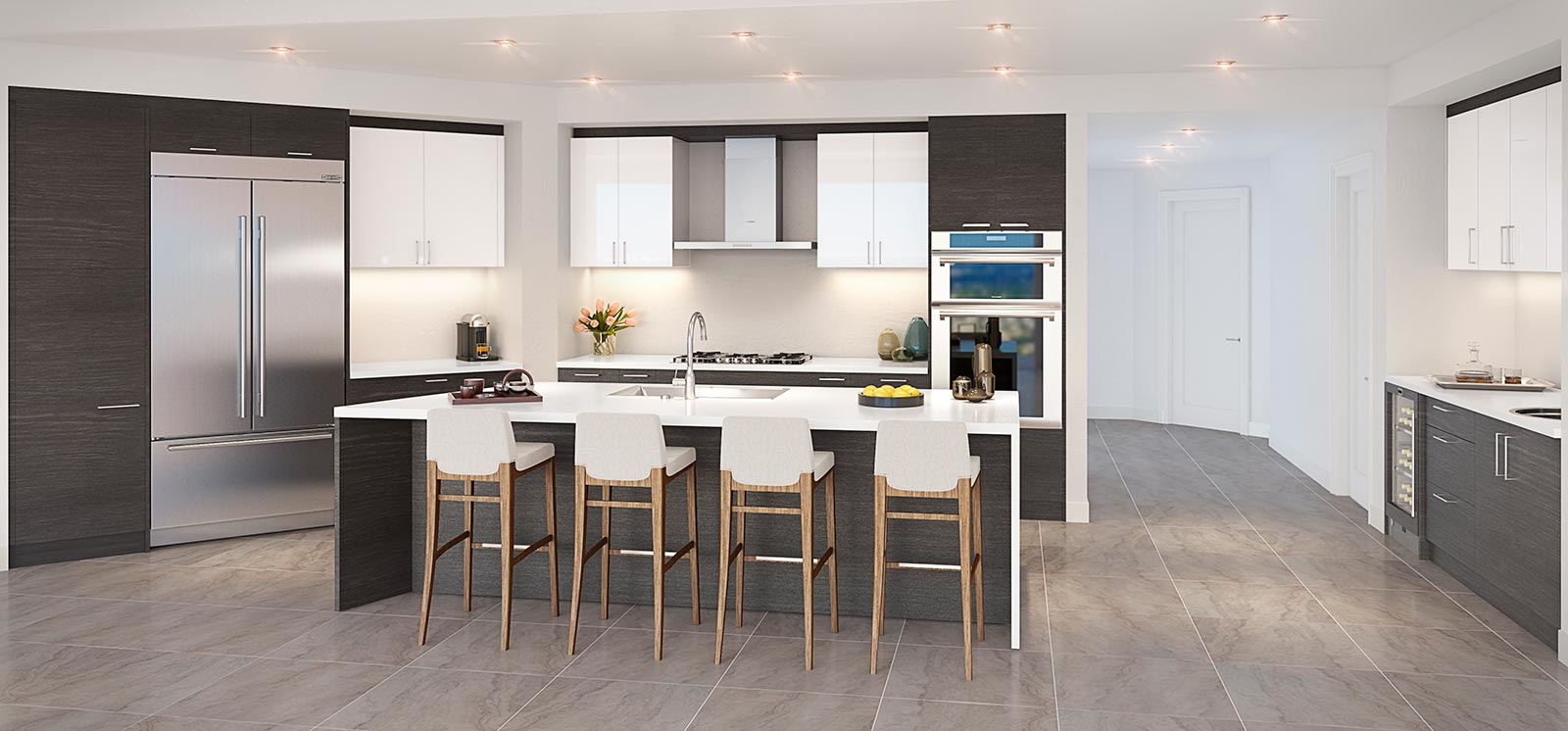 100 Las Olas Kitchen Rendering Euro Dark