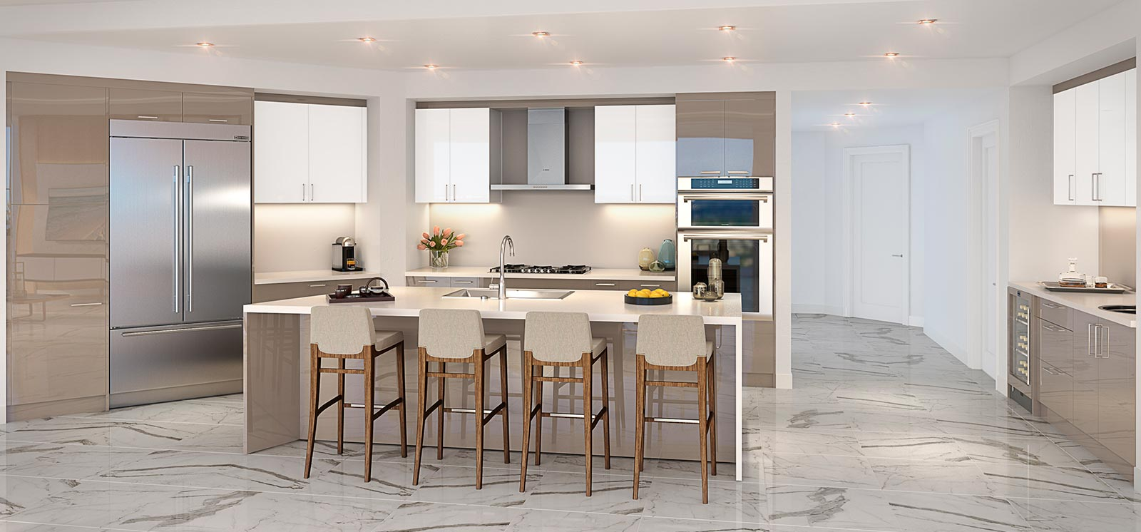 100 Las Olas Kitchen Rendering Luxe