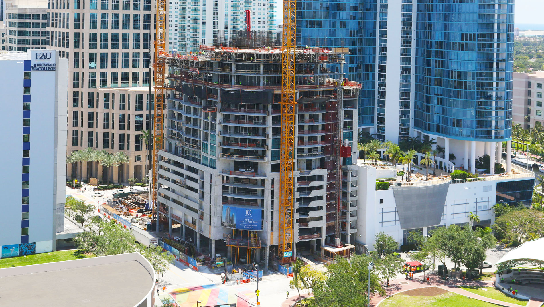 May 2018 100 Las Olas Aerial Construction Shot