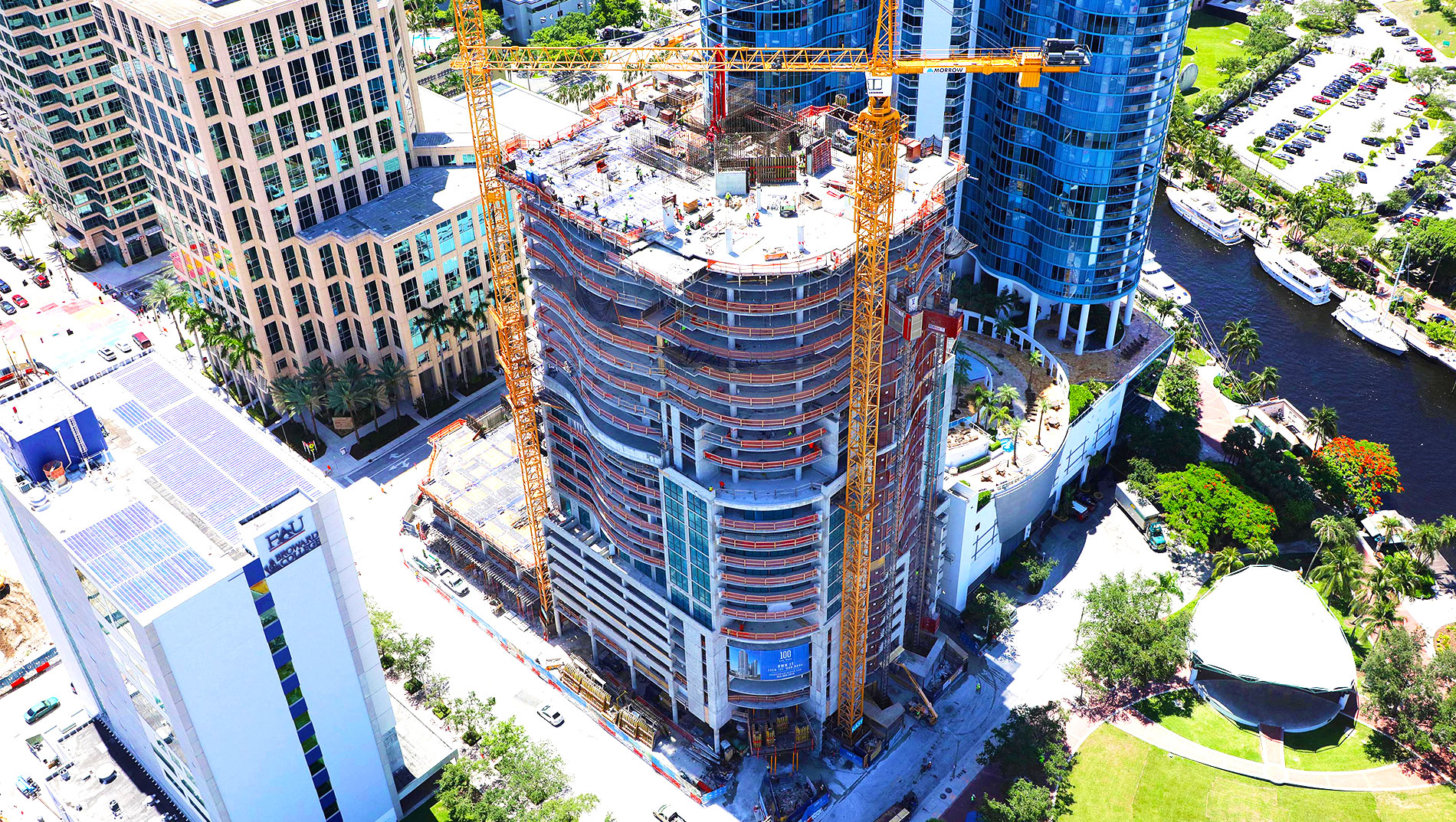 100 Las Olas July 2018 Construction