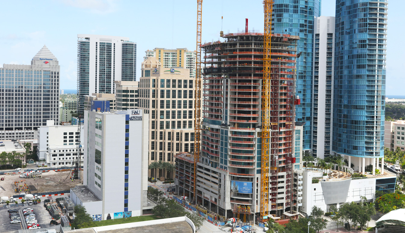 100 Las Olas August Construction Update 2018