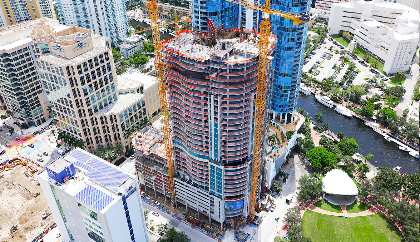 100 Las Olas Construction Image September 2018