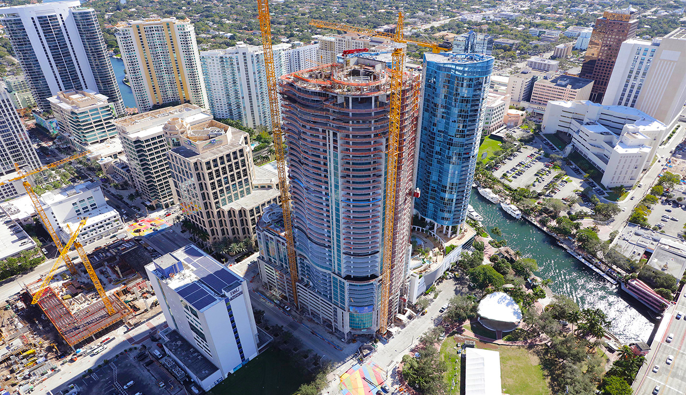 100 Las Olas Front Construction Shot January 2019