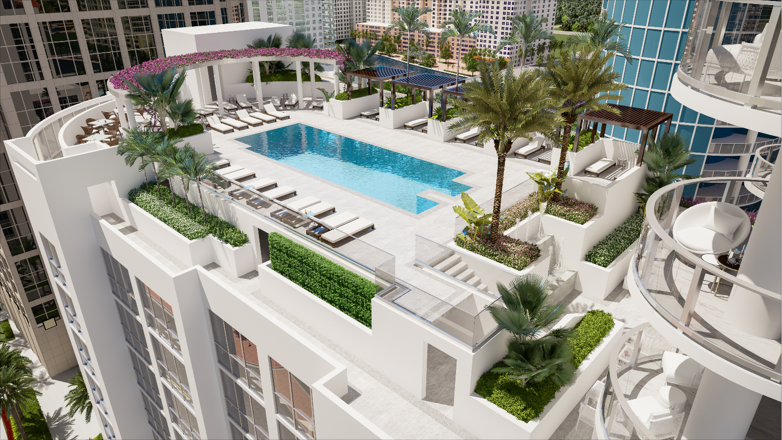 Excitement Builds as 100 Las Olas 16th Level Private Amenities Near Completion