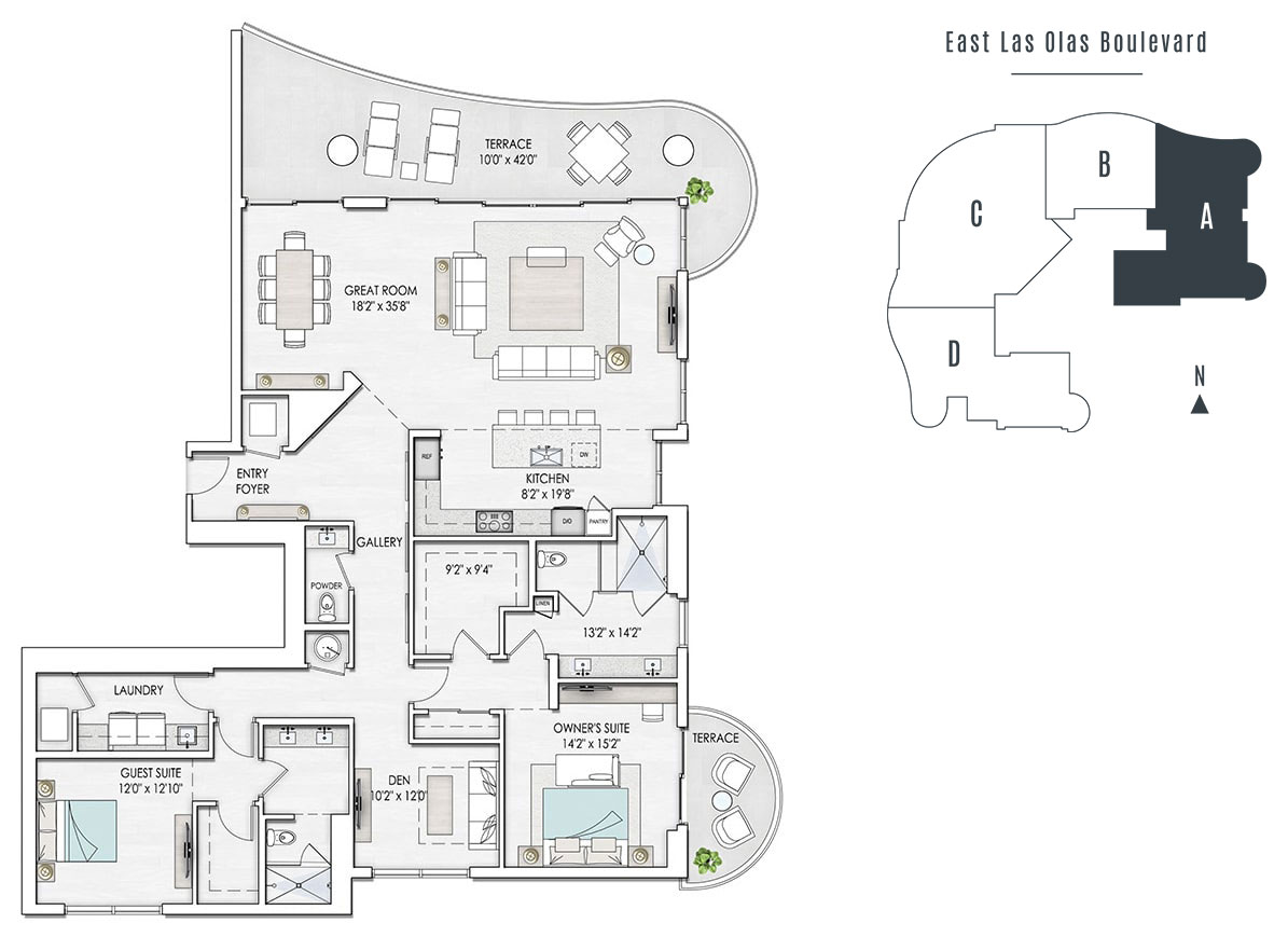 Floorplan of Residence 2301-A