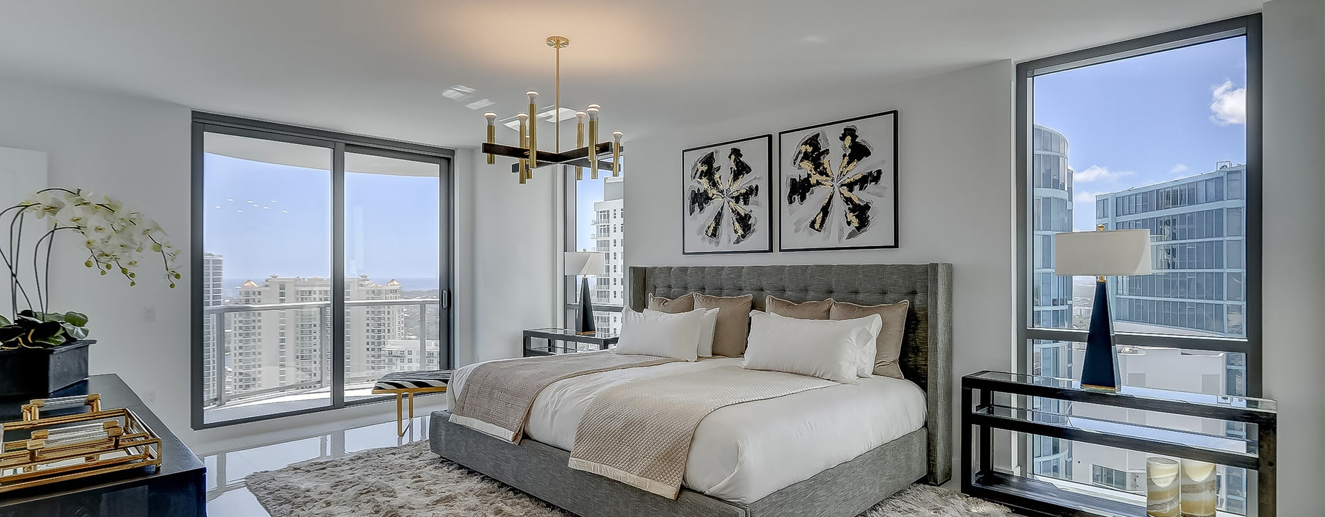 100 Las Olas Estate Bedroom with views of fort lauderdale