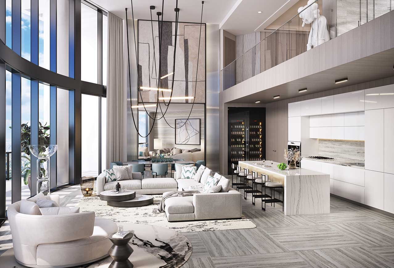 A Showstopping Penthouse is 100 Las Olas' Crown Jewel in Downtown Fort Lauderdale